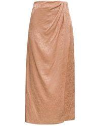 ANDAMANE Midi Wrapped Skirt - Neutro