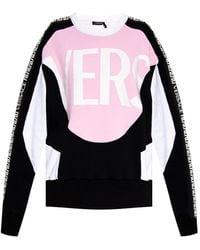 Versace Sweatshirt With Greek Print - Roze
