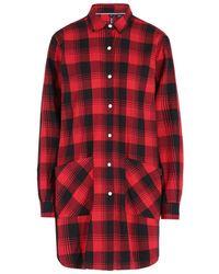 Woolrich Over Shirt Flannel Shirt - Rouge