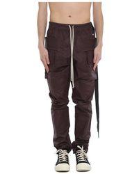 Rick Owens Cargo Pants - Marrone