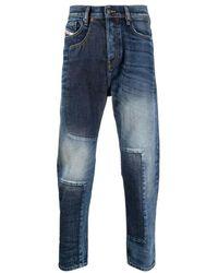 DIESEL Patchwork Jeans - Blu