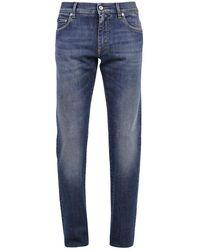 Dolce & Gabbana Slim Fit Jeans - Blauw