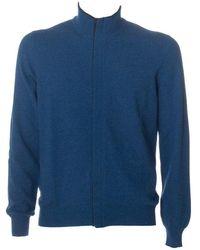Gran Sasso Cardigan Zip - Blauw