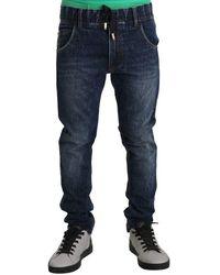 Dolce & Gabbana Gewassen Slim Jeans - Blauw