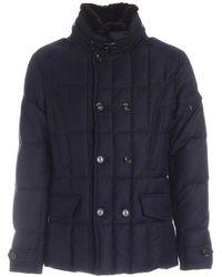 Moorer Siro-l Wool Jacket Cover - Zwart