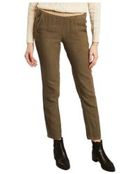 Hartford Linen trousers Pirouette - Vert