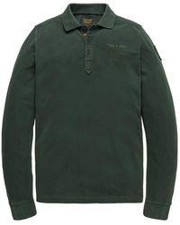 PME LEGEND - Polo Long Sleeve Polo Rugged Pique Garment D - Lyst