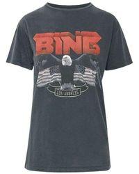 Anine Bing T-shirt Vintage Bing Tee - Zwart