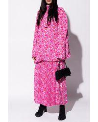 Balenciaga - Pleated skirt Rosa - Lyst