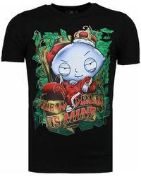 Local Fanatic Rich Stewie - T-shirt - Zwart