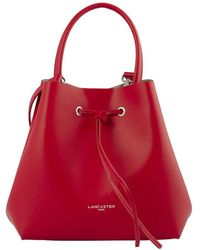 Lancaster Handle Bucket Bag - Rouge