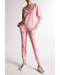 Moschino Pantalones deportivos con logo Rosa
