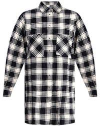 DIESEL Oversize Shirt Dress - Zwart