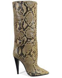 Saint Laurent Kiki Suede Boots - Groen