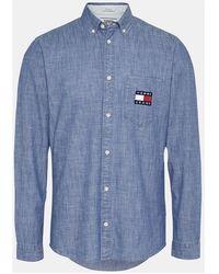 Tommy Hilfiger Chambray Long Sleeve Shirt - Blauw