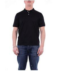 Alpha Studio Au2591b Short Sleeve T-shirt - Zwart
