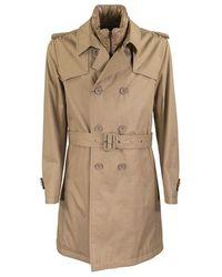 Herno Waterproof Trench Coat With Belt - Naturel