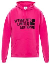 Vetements - Logo-printed Hoodie - Lyst