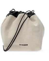 Jil Sander Bucket Shoulder Bag - Naturel