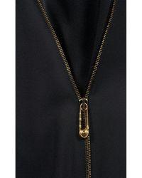 Versace Kleid mit Reißverschluss Negro