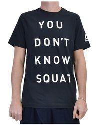 Reebok Dont Know Squat T-shirt - Zwart