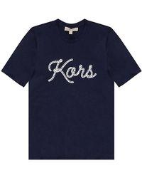 Michael Kors T-shirt à logo - Bleu