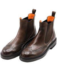 Santoni - Flat shoes - Lyst