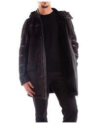 Patrizia Pepe 5L0252/A2Em Overcoat Men Black - Schwarz