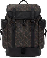 COACH Backpack With Logo - Zwart