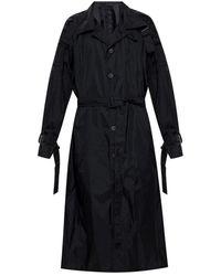 Y-3 Rain Coat With Belt - Zwart