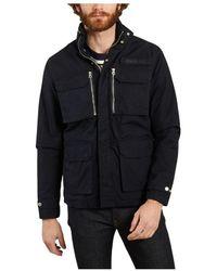 Schott Nyc Fielda 2 Canvas Jacket With Pockets - Blauw