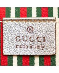 Gucci Anillo en D de lona con GG Abbey Baguette Marrón