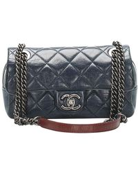 Chanel Flap Shoulder Bag - Blauw
