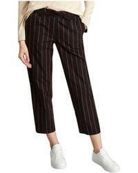 Bellerose Lou Belted Trousers - Nero