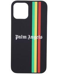 Palm Angels Printed Iphone Case - Zwart