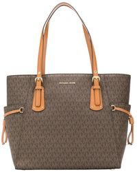 Michael Kors Voyager Tote With Logo - Bruin