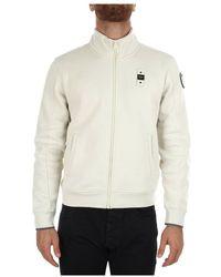 Blauer 21wbluf 01291 005787 hoodie with zip - Blanco