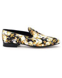 Versace Baroque Print Loafers - Zwart