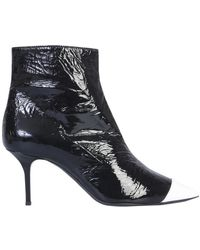 MSGM Glossy Boots - Noir