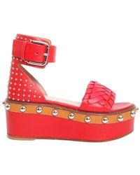 RED Valentino Valentino garavani sandali con piattaforma - Rosso
