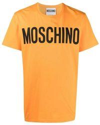 Moschino T-shirt À Logo Imprimé - Oranje