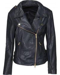 Onstage Biker Leather Jacket - Blauw