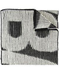 Balenciaga Enlarged Logo Scarf - Zwart
