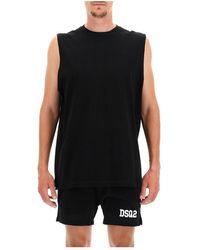 DSquared² Muscle Mesh Tank Top - Zwart