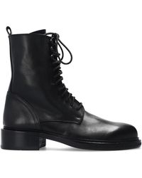 Ann Demeulemeester Lace-up Ankle Boots - Zwart