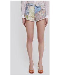 Etro - Shorts Amarillo - Lyst