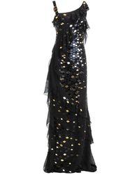 Roberto Cavalli Long Dress - Zwart