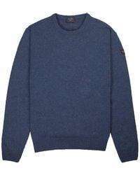 Paul & Shark Klassischer Rundhals-Sweater - Blau