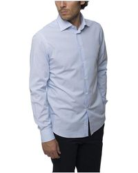 BRANCACCIO Micro Striped Shirt - Blauw