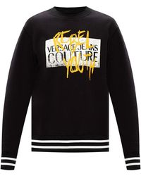 Versace Jeans Couture Sweatshirt with logo - Nero